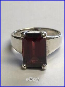 James Avery Rare Sterling And Garnet Bella Ring