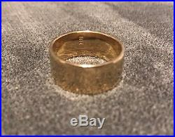 James Avery Refleccion Wedding Band 14K Gold Hammered Ring 11 Grams size 10