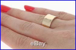 James Avery Reflection Band 14k Yellow Gold Women's Statement Ring Size 6