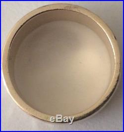 James Avery Reflection Wedding Band 14K Gold Hammered Ring size 8