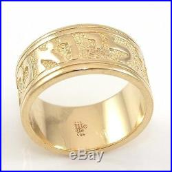James Avery Retired 14K Yellow Gold Song of Solomon Band Ring Size 8