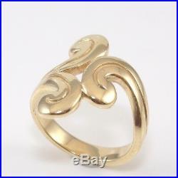 James Avery Retired 14K Yellow Gold Swirl Ring Size 4.5 GFI