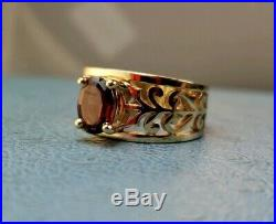 James Avery Retired 14k Adoree Garnet Ring Sz7.5 Really Good Condition