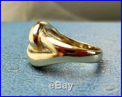 James Avery Retired 14k Cadena Love Ring Sz7.5 Heavy Solid Gold