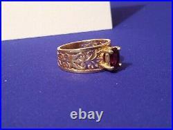James Avery Retired 14k Gold Red Garnet Adoree Ring Size 7 Rare! 6.73 Grams