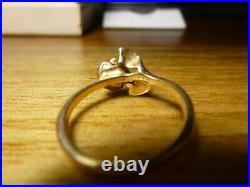 James Avery Retired 14k Gold Rose Ring Size 6