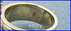 James Avery Retired 14k Mariposa Sz5 Solid Condition