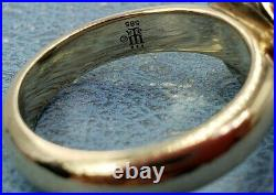 James Avery Retired 14k Pearl Ring Heavy Duty Band Sz8.5