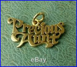 James Avery Retired 14k Precious Aunt charm or pendant uncut jump ring