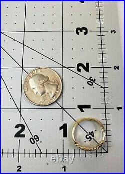 James Avery Retired 14k Rope Ichthus Ring Sz5