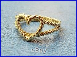 James Avery Retired 14k Twisted Rope Heart Ring Size 7