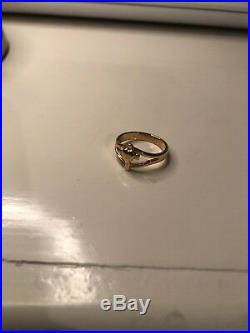James Avery Retired 14k Yellow Gold Cross With Heart Ring