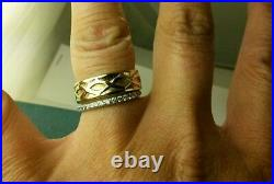 James Avery Retired 14k Yellow Gold Crown of Thorns Band Ring Size 9.50
