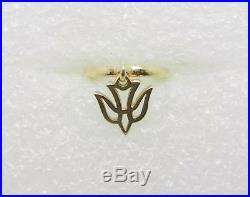 James Avery Retired 14k Yellow Gold Holy Spirit Dangle Charm Ring Size 6 -lb2611