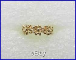 James Avery Retired 14k Yellow Gold Margarita Daisy Ring Band Size 5.5 Lb2797