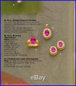 James Avery Retired 18K Contessa Lab Pink Sapphire & Diamond Ring Sz 5.5 Rare