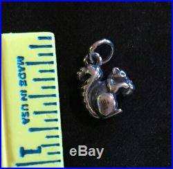 James Avery Retired 3d Squirrel Charm Sterling Silver Jump Ring Uncut
