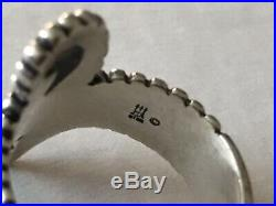 James Avery Retired Bypass Swirl Beaded Ring Size 8.5 Band Sterling Silver