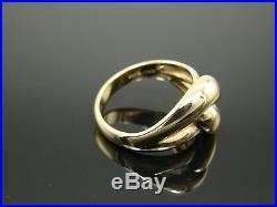 James Avery Retired Cadena Ring 14k Gold Size 7.5