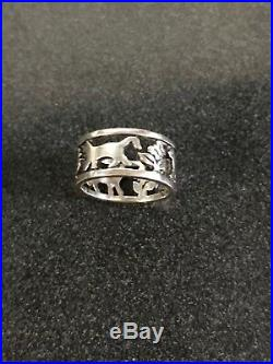 James Avery Retired Cat Band Ring Size 6 Sterling Silver