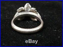 James Avery Retired Christmas Rose Ring In Sterling Silver With Pink Stone size 8