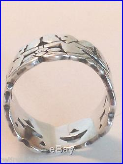 James Avery Retired Continuous Angels Band Ring Sz 6.5 Silver Charm with Box