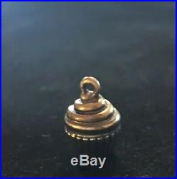 James Avery Retired Cupcake Charm Bronze & Sterling Silver No Jump Ring