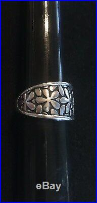 James Avery Retired Flower Band Ring Size 6.75 Sterling Silver