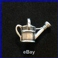 James Avery Retired Garden Watering Can Charm Sterling Silver No Jump Ring