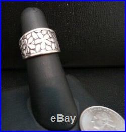 James Avery Retired HTF Spring Blossom Daisy Flower Sterling Silver Ring Sz 7