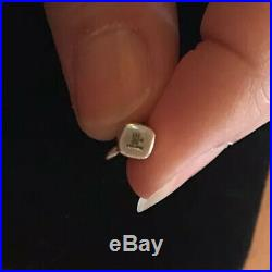 James Avery Retired Lipstick 14k Gold & Sterling Silver Charm No Jump Ring