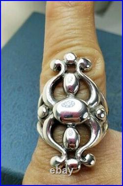 James Avery Retired Long Lyrical Ring Sz7.5