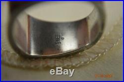 James Avery Retired Longhorn Ring Size 9 3/4 Sterling. 925 Silver Hook Em Horns