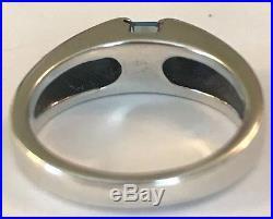 James Avery Retired Meridian Ring Blue Topaz Sz 7 New Silver Rare Ja Box