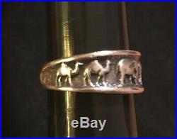 James Avery Retired Noahs Ark Ring Sterling Silver Size 8.5
