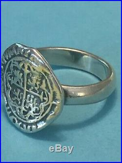 James Avery Retired Pieces Of Eight Silver Ring Size 7