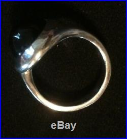 James Avery Retired Rare Round Onyx Ring Size 8