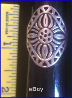 James Avery Retired Rare Sunflower Flor Del Sol Ring Size 8