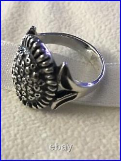 James Avery Retired Silver Sunflower Ring 6.5