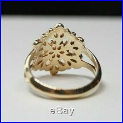 James Avery Retired Snowflake Ring 14k Yellow Gold Size 7