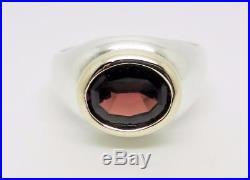 James Avery Retired Sterling 14k Gold Garnet Ring Size 9.5 Rare Lb-c1863