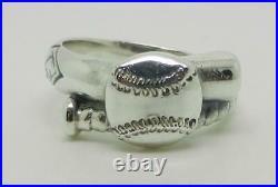 James Avery Retired Sterling Silver Baseball Ring Size 9.25 Lb-c2254