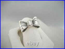 James Avery Retired Sterling Silver Bow Ring Size 3 3/4