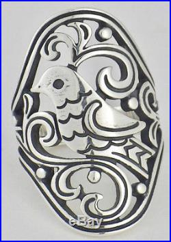 James Avery Retired Sterling Silver Paradise Bird Ring Large Design Size 6 3/4
