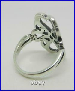 James Avery Retired Sterling Silver Tall Swirl Heart Ring Size 5.25 Lb-c2260