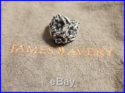 James Avery Retired Sterling Silver Three Dogwood Flower Ring