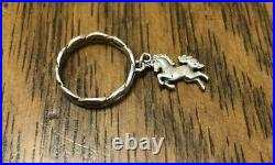 James Avery Retired Sterling Silver Unicorn Dangle Charm Ring Size 8