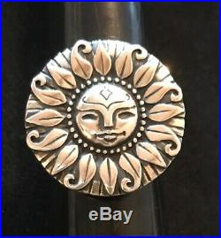 James Avery Retired Sun My Sunshine Ring Sterling Silver Size 8.25-8.5