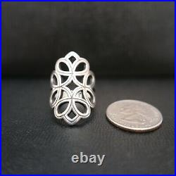 James Avery Retired Tracery Open Scroll Ring 925 Sterling Silver Size 7.5