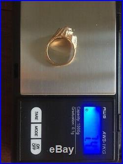 James Avery -Retired- Vintage 14K Gold Diamond Shell Seashell Ring- Beautiful